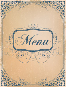 Vector Vintage Restaurant Menu