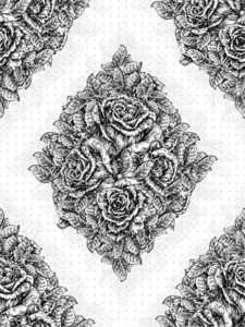 Vector Vintage Seamless Pattern With Roses