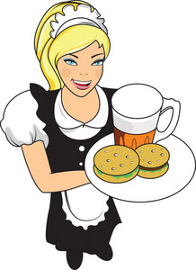 Vector Waitress Character