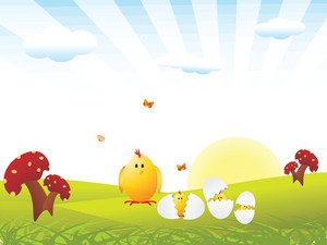 Vector Wallpaper Of Easter Family