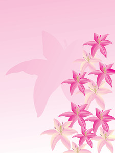 Vector Wallpaper Of Lily Flower