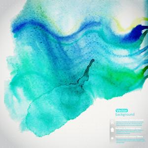 Vector Watercolor Texture. Grunge Paper Template. Wet Paper. Blobs