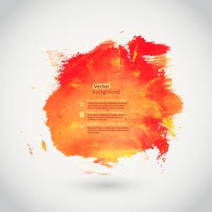 Vector Watercolor Texture. Orange Grunge Paper Template. Water. Wet Paper. Blobs