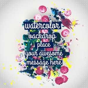 Vector Watercolor Texture. Watercolor Spray Background