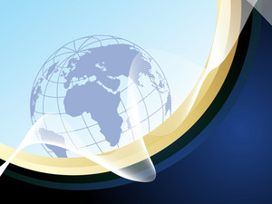 Vector Wave Background With Globe