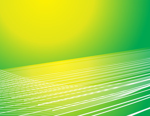 Vector Waves Lines In Yellow And Green