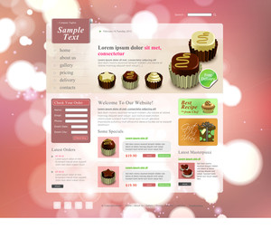 Vector Website Design Template