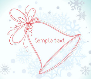 Vector Winter Frame With Bell