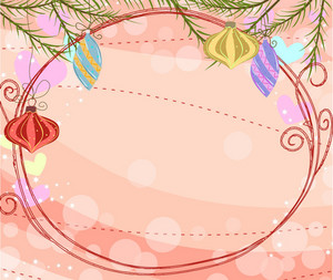 Vector Winter Frame With Circles