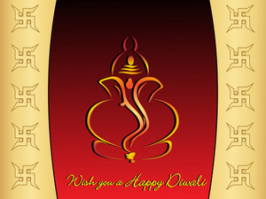Vector Wish You A Happy Diwali Gretting Card