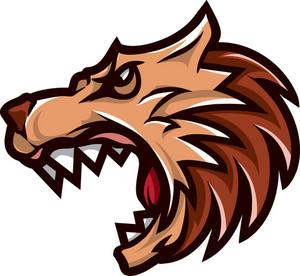 Vector Wolf Mascot