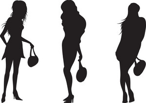 Vector Women Silhouette