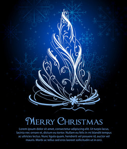 Vector Xmas Greeting Card
