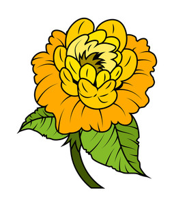 Vector Yellow Rose