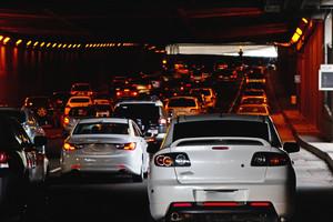 Vehicles Under Tunnel