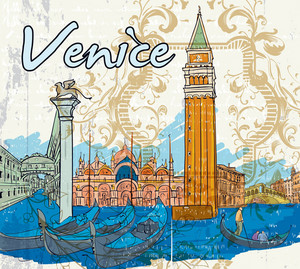 Venice Doodles Vector Illustration