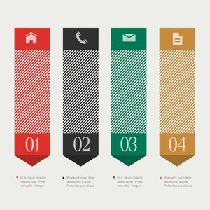 Vertical Design Template Infographics
