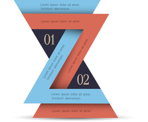 Vertical Minimal Infographics Design With Triangles
