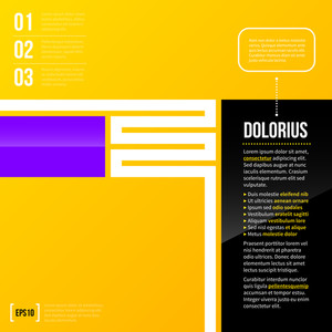Vertical Text Layout With Minimalistic Elements On Bright Yellow Background. Eps10