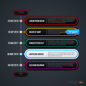 Vertical Timeline. Eps10.