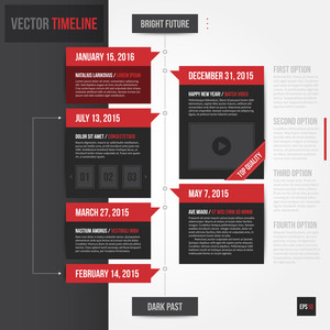 Vertical Timeline Template. Eps10.