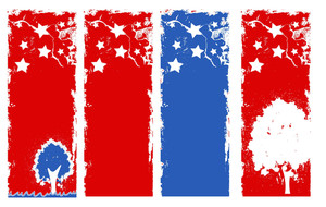 Verticle Grunge Banner Patriotic Usa Theme Vector