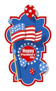 Verticle Happy Presidents Day Greeting Banner Vector