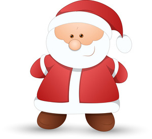 Very Cute Santa - Christmas Vector Illustration