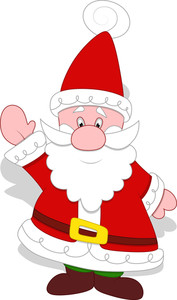 Very Cute Santa Claus Vector