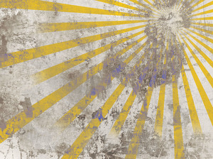 Very Old Sunburst Background In Grunge Style