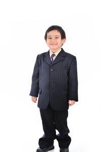 Very young future businessman