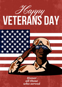 Veterans Day Greeting Card American