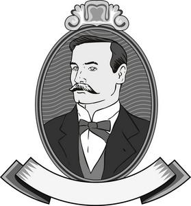 Victorian Gentleman In Circle