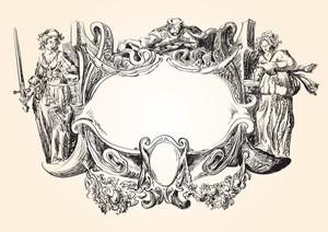 Victorian Heraldic Frame