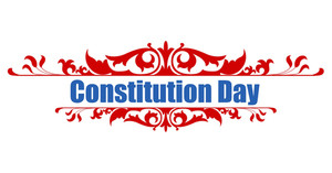 Victorian Style  Constitution Day Vector Illustration