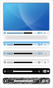 Video And Audio Player Vector Design