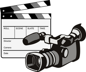Video Camera Movie Clapboard Retro