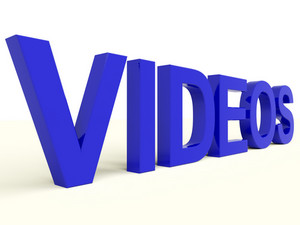 Videos Word In Blue Showing Dvd Or Multimedia