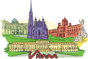 Vienna Vector Doodle