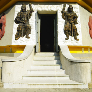 Vietnam temple in city Natrang