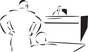 View Of A Courtroom.