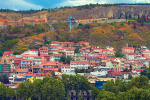 View of Tbilisi city