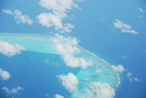 View On Maldives Island From Airplane