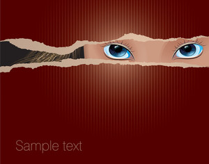 View Over. Vector Abstract.