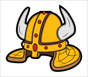 Viking Helmet Mascot Vector Illustration