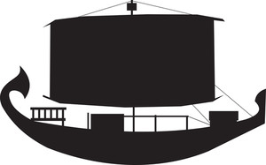 Viking Ship Silhouette