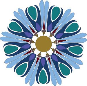 Vintage Art Floral Design