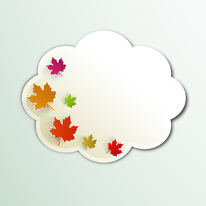 Vintage Autumn Season Background With Maple Leaves