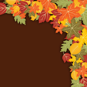 Vintage Autumn Season Background With Maple Leaves