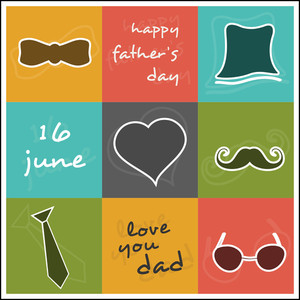 Vintage Background For Happy Fathers Day